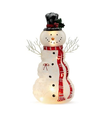 LED Snowman with Scarf