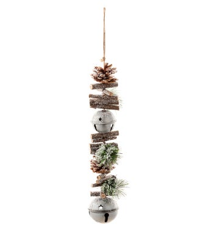 Pine Cone/Jingle Bell Garland
