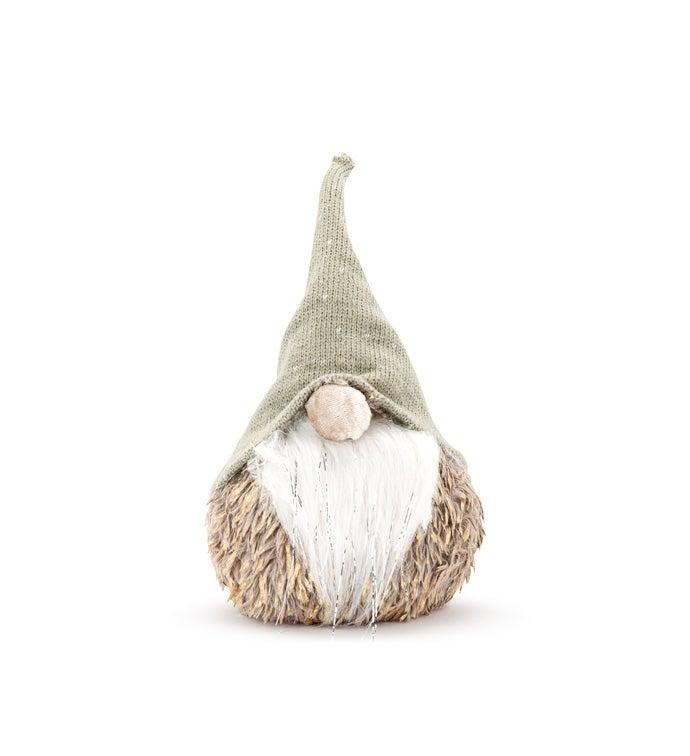 Small Sage/Tan Round Gnome