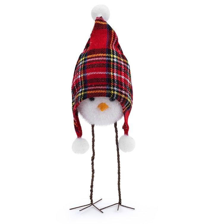 Tartan Plaid Stocking Cap Bird