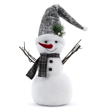 Snowman with Stocking Cap