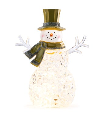 LED Snowman with Scarf/Top Hat