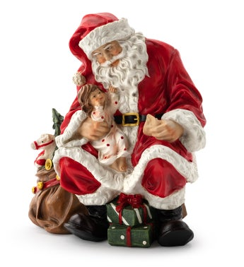 Santa with Child & Gifts