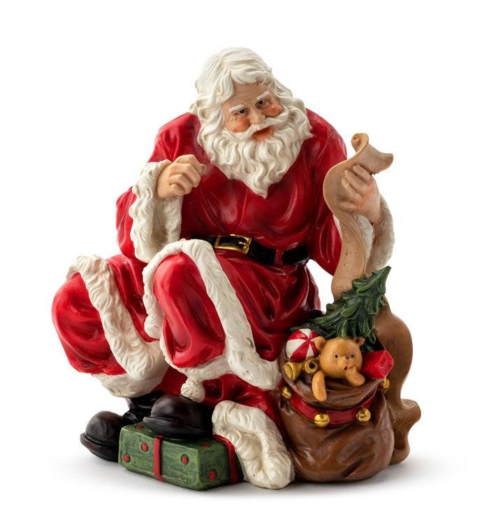 Santa with List & Bag