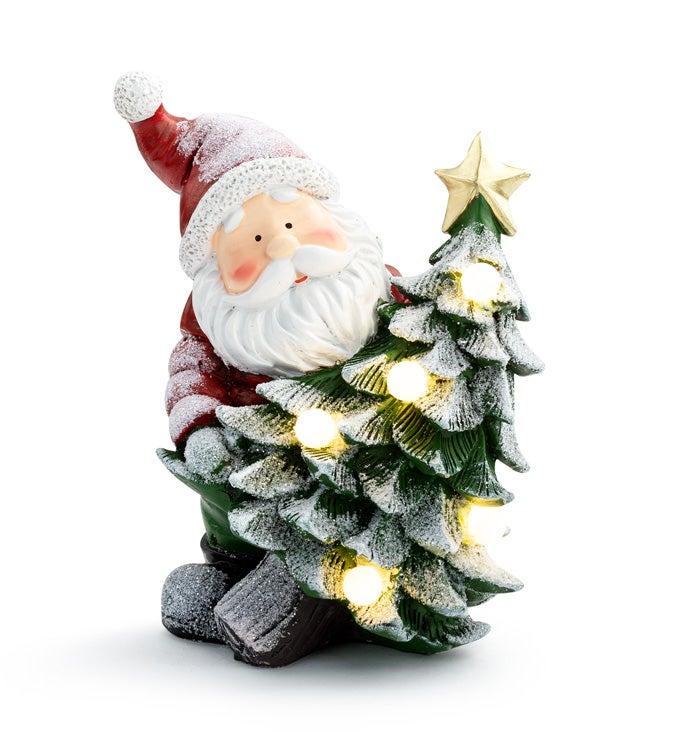 LED Santa with Christmas Tree
