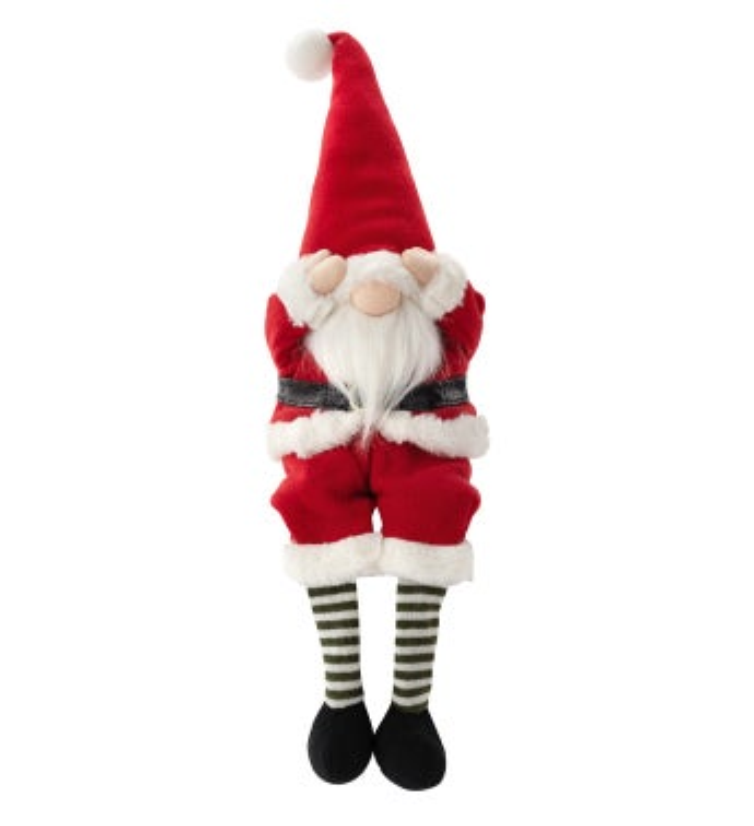 Peek-a-Boo Sitting Santa