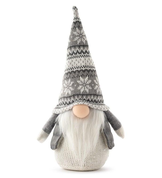 Grey Snowflake Hat Gnome