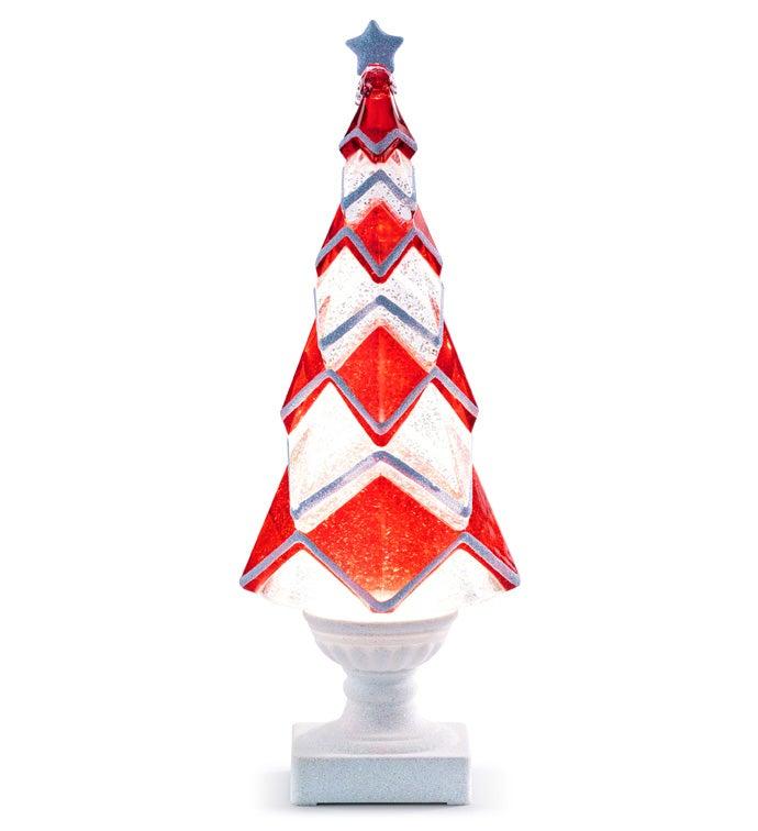 LED Red/White Tree