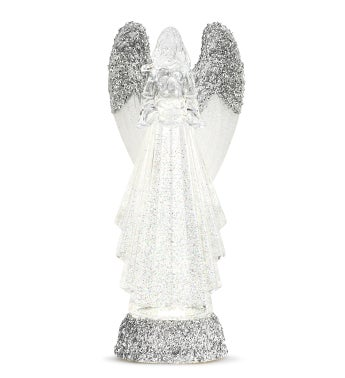 LED Silver/Clear Angel