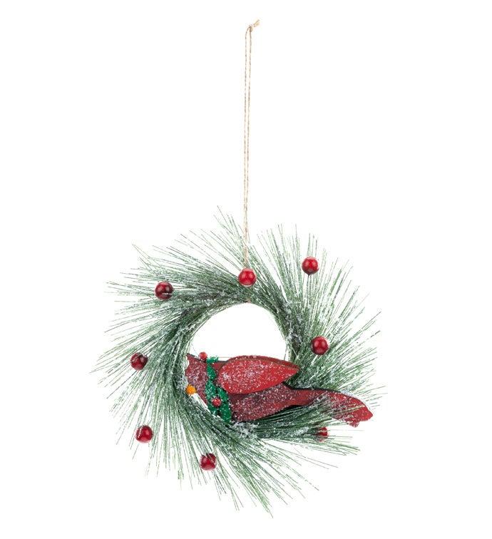 Cardinal/Wreath Ornament
