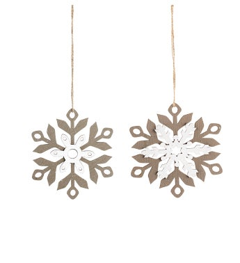 Snowflake Ornament, 2 Assorted