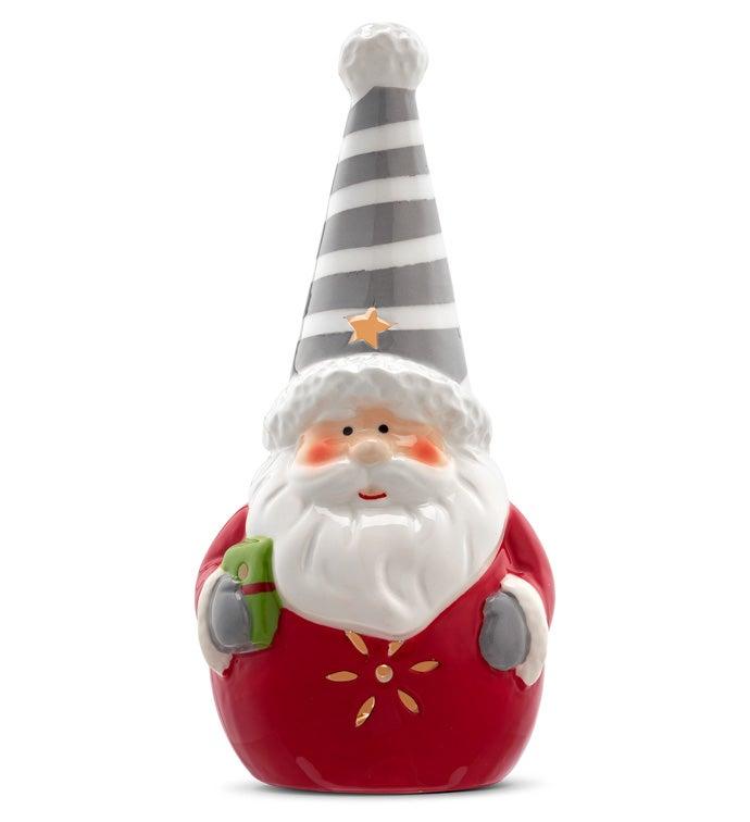 LED Santa With Stripe Hat