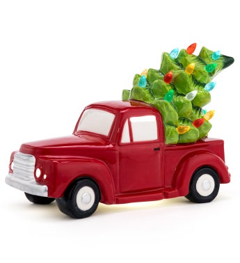 LED Truck with Christmas Tree