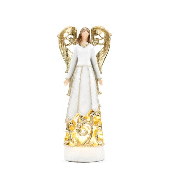 LED White/Gold Angel Small