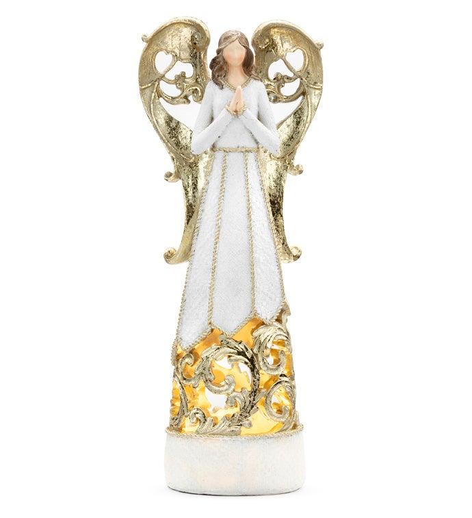 LED White/Gold Angel Large