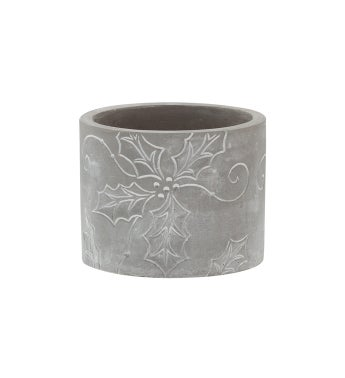 Holly Embossed Planter