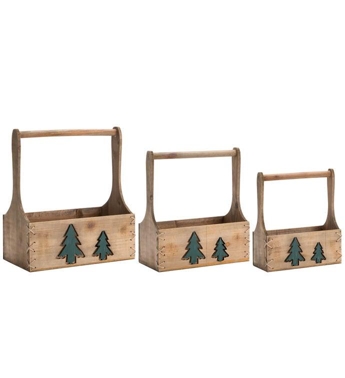 Christmas Tree Planter Box, Set of