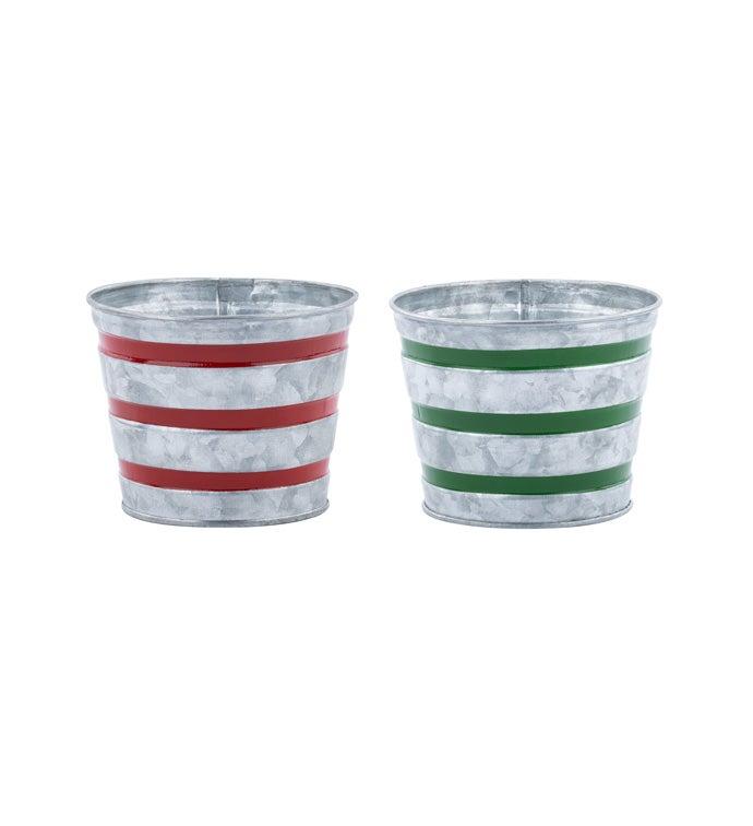 "5"" Stripe Pot Cover, 2 Assorted"