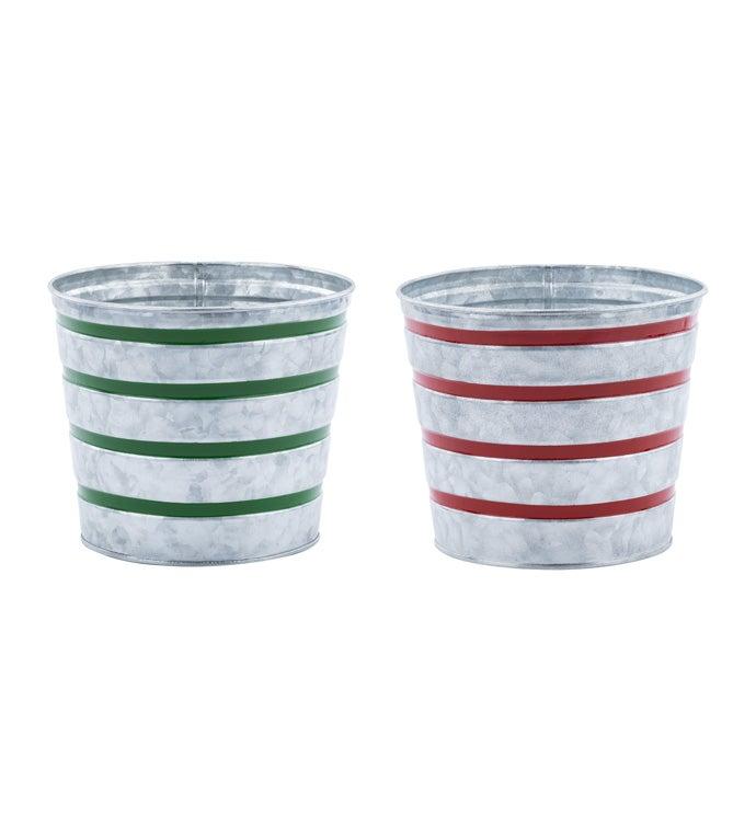 """6.5"""" Stripe Pot Cover, 2 Ass"""