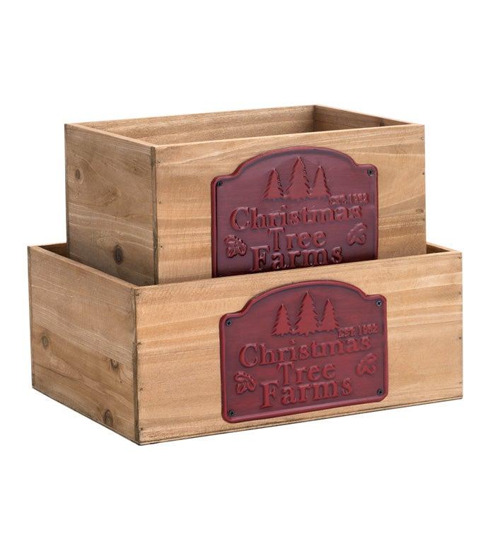 Tree Farm Planter Box, Set of 2