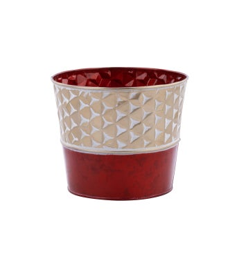 """6.5"""" Gold/Red Pot Cover"""