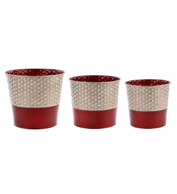 Gold/Red Tree Cover, Set of 3