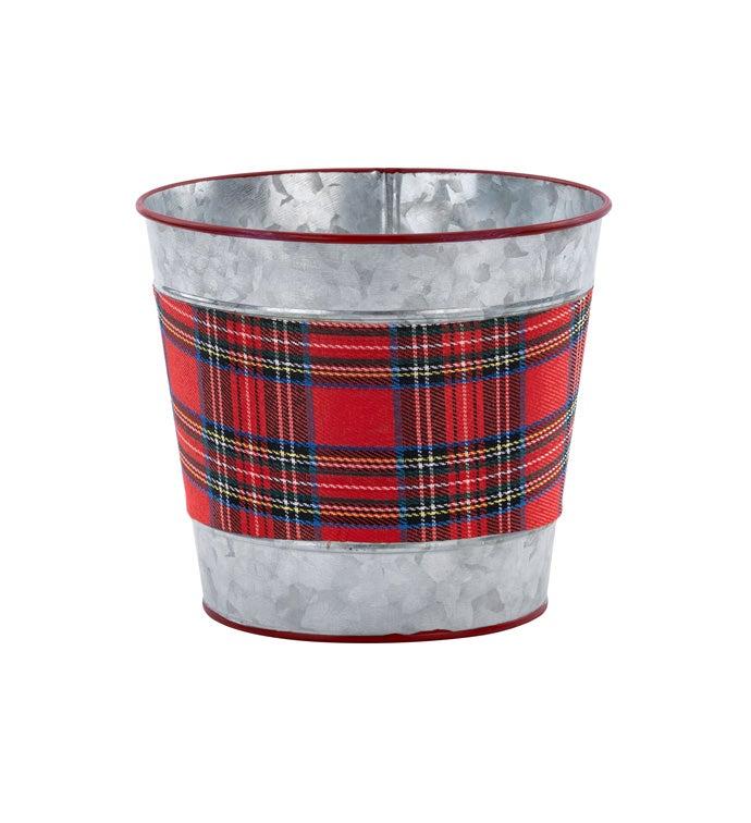 "6.5"" Tartan Plaid Pot Cover"