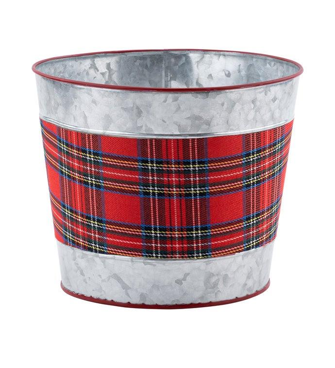 "8.5"" Tartan Plaid Pot Cover"