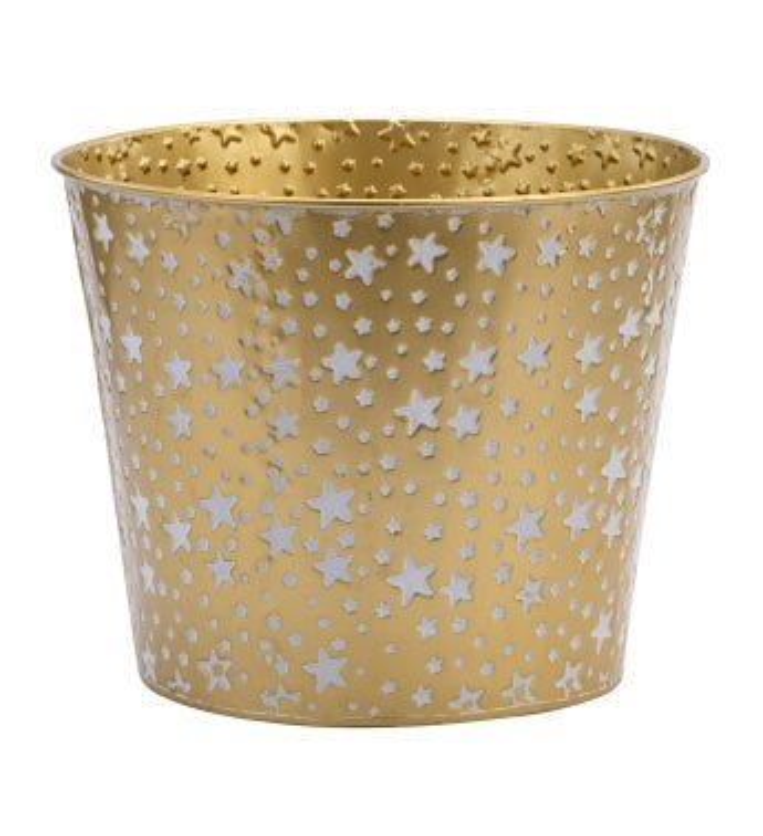 "8.5"" Gold/White Star Pot Cover"