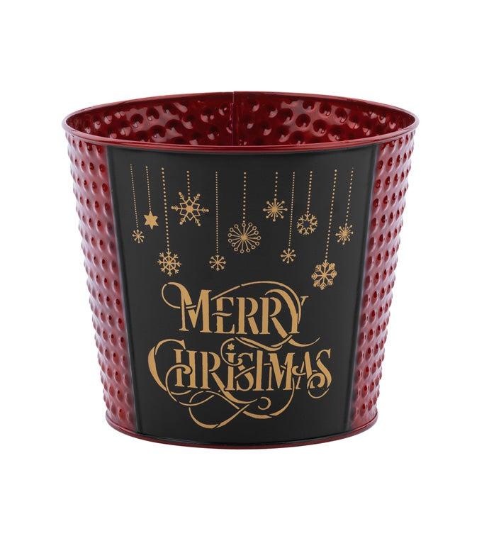 "6.5"" Merry Christmas Pot Cover"