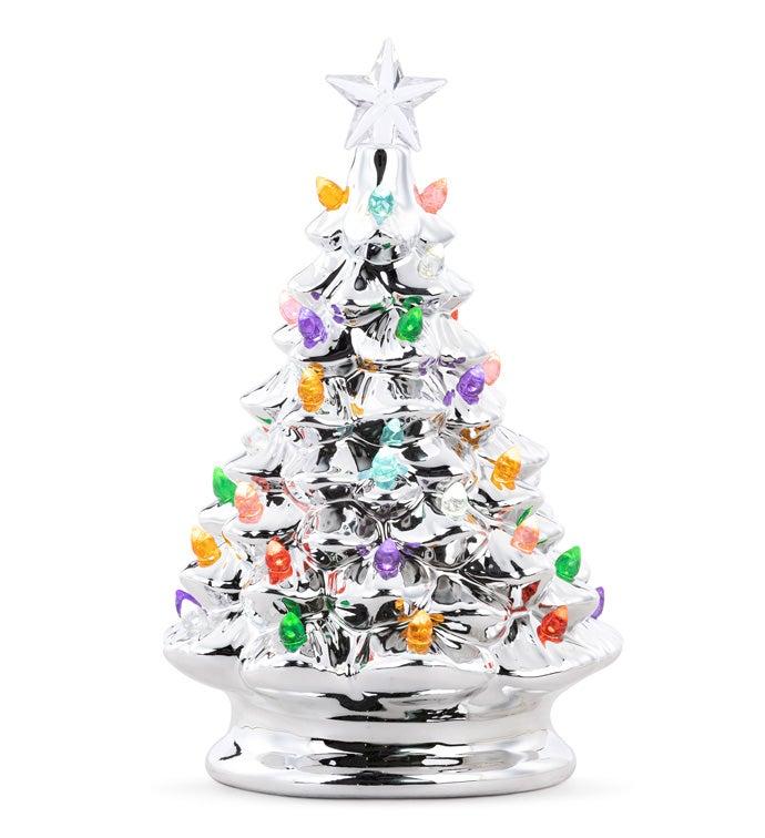 LED Silver Christmas Tree