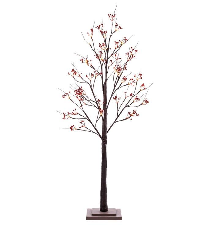 LED Birch Berry Trees