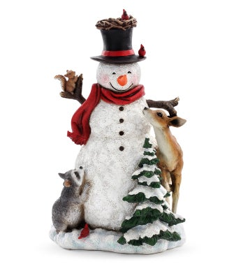 Snowman With Forest Animals