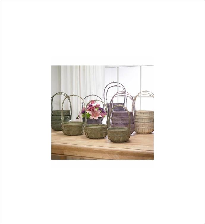 Bushel Basket, Set of 3, 5 Assorted