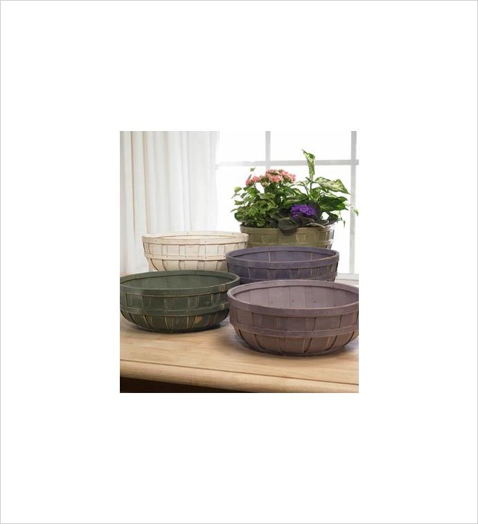"10"" Decorative Bushel Low Bowl x5"