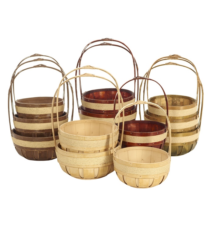 Bushel Baskets, Set of 3,4 Assorted