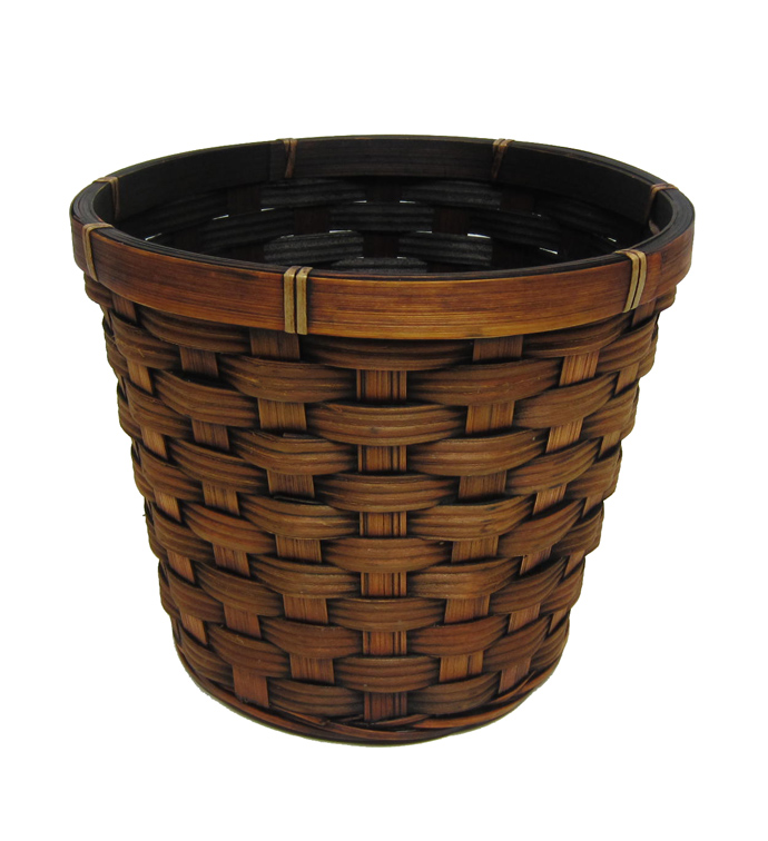 "6.5"" Dark Brown Pot Cover"