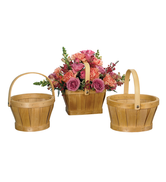 "6"" Baskets, 3 Assorted"