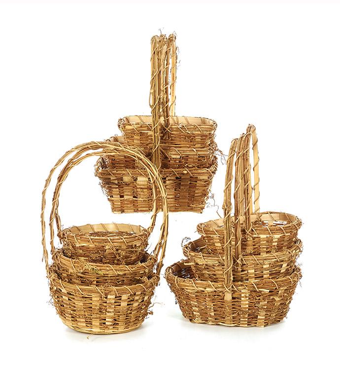 Baskets, Set of 3, 3 Assorted