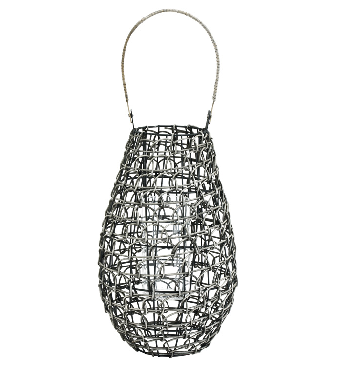 Extra Large Rattan Lantern With Hur