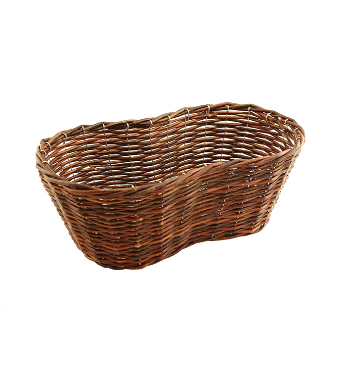 Dark Stain Peanut Shape Basket