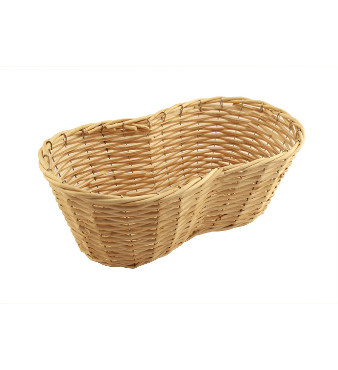 Light Stain Peanut Shape Basket