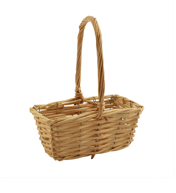 Light Stain Handle Basket