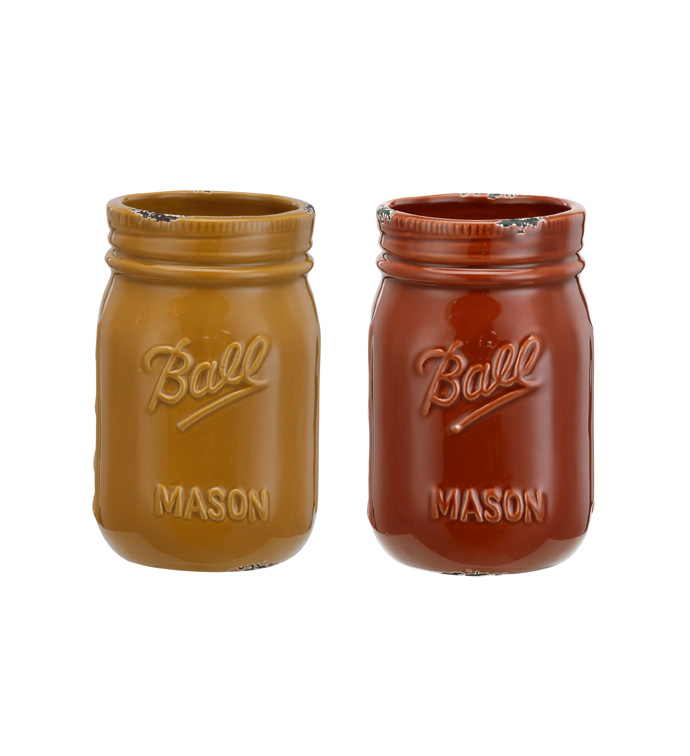 Small Mason Jar, 2 Assorted