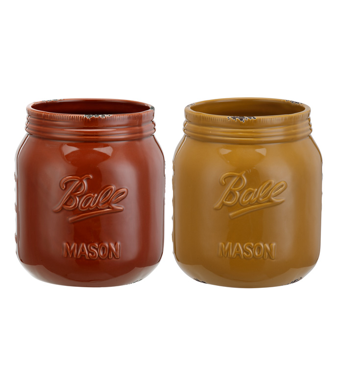 Extra Large Mason Jar, 2 Assorted