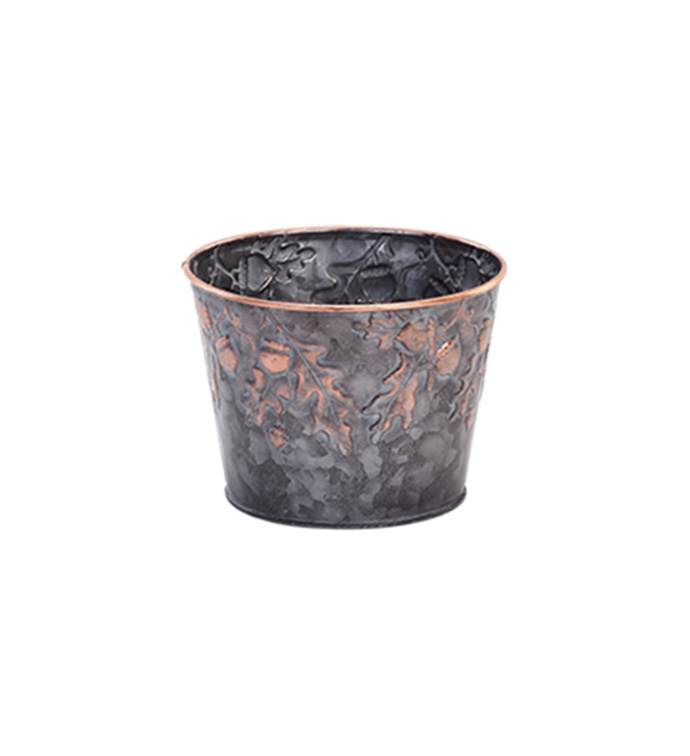 "5"" Embossed Acorn Pot Cover"