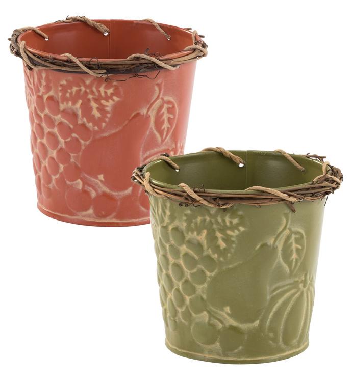 "5"" Fall Vine Pot Cover, 2 Assorted"