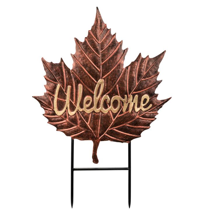 Welcome Leaf Stake