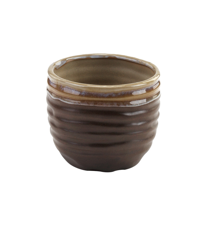 Brown Drip Glaze Planter