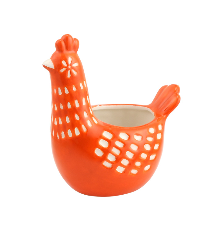 Orange Rooster Planter